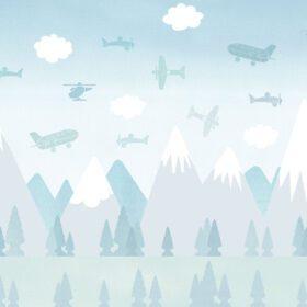 BoråsTapeter – Kinderzimmer Tapete – Brio Airplanes