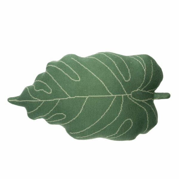 Lorena Canals - Knitted Cushion - Baby Leaf - 28 x 42 cm