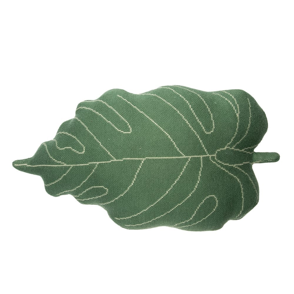 Lorena Canals – Knitted Cushion – Baby Leaf – 28 x 42 cm