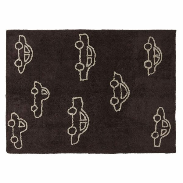 Lorena Canals - Washable Rug - Cars - Brown - 120 x 160 cm