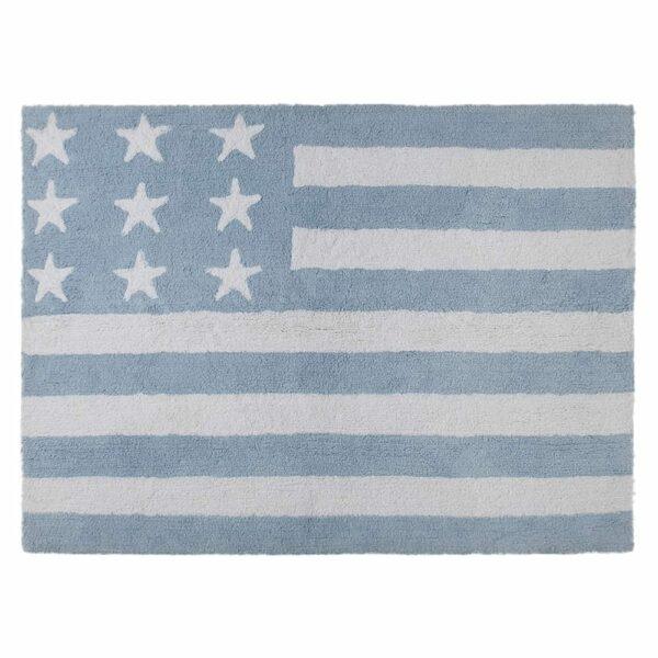 Washable Rug - American Flag - Baby Blue - 120 x 160 cm