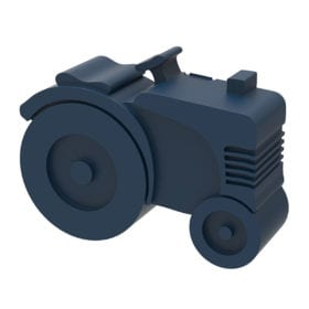 Blafre – Brotdose – Traktor – Dunkelblau