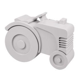 Blafre – Brotdose – Traktor – Grau