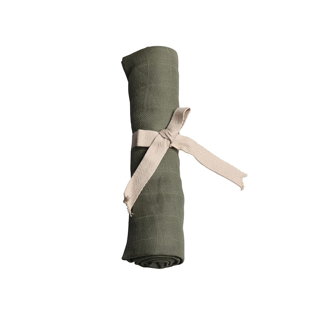 Muslin – Solid Olive Green