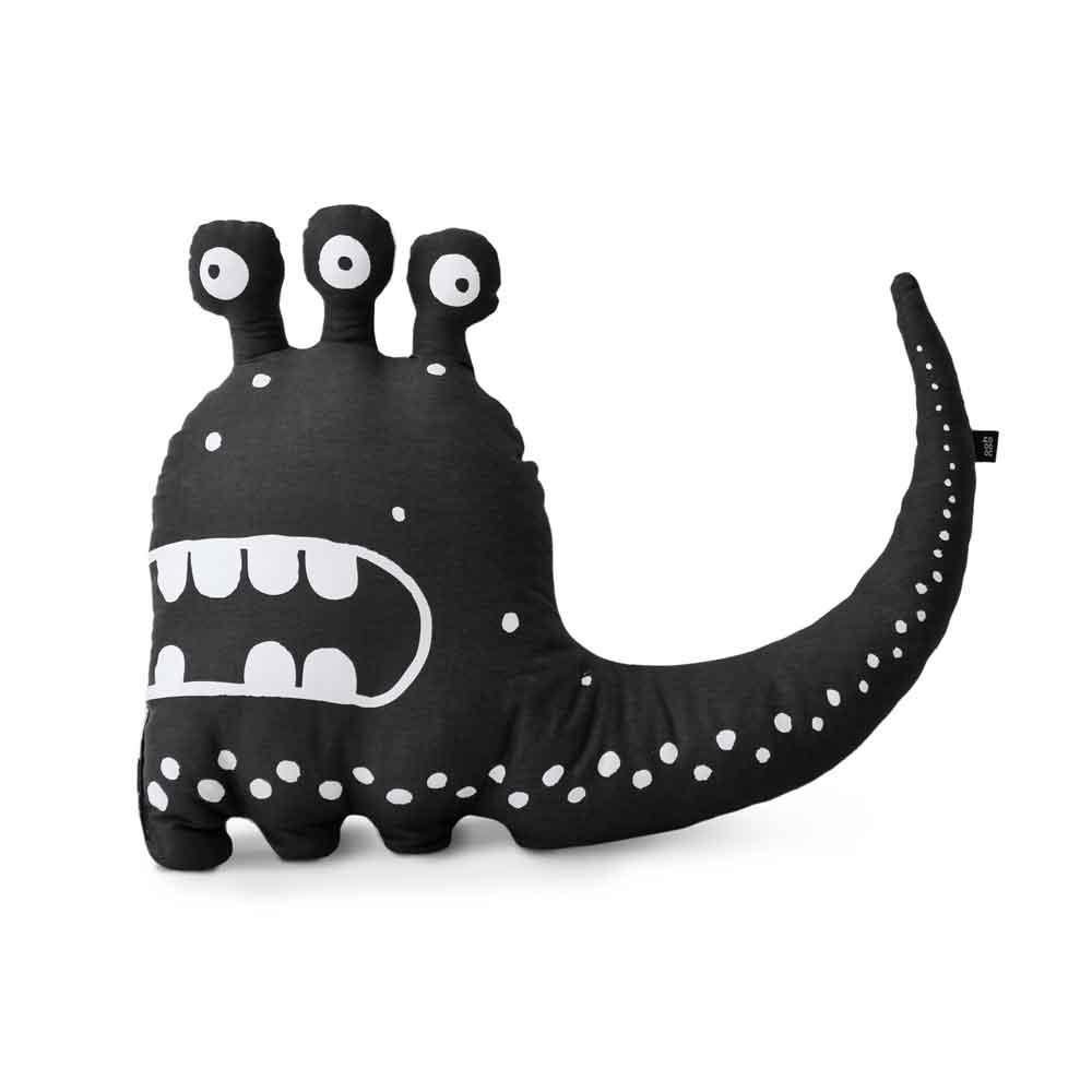 Ooh Noo – Three-eyed Monster Cushion – Black