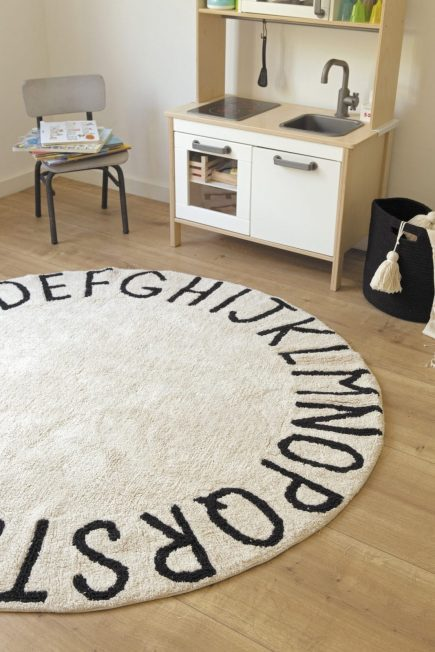 Lorena Canals - Washable Rug - Round ABC - Natural