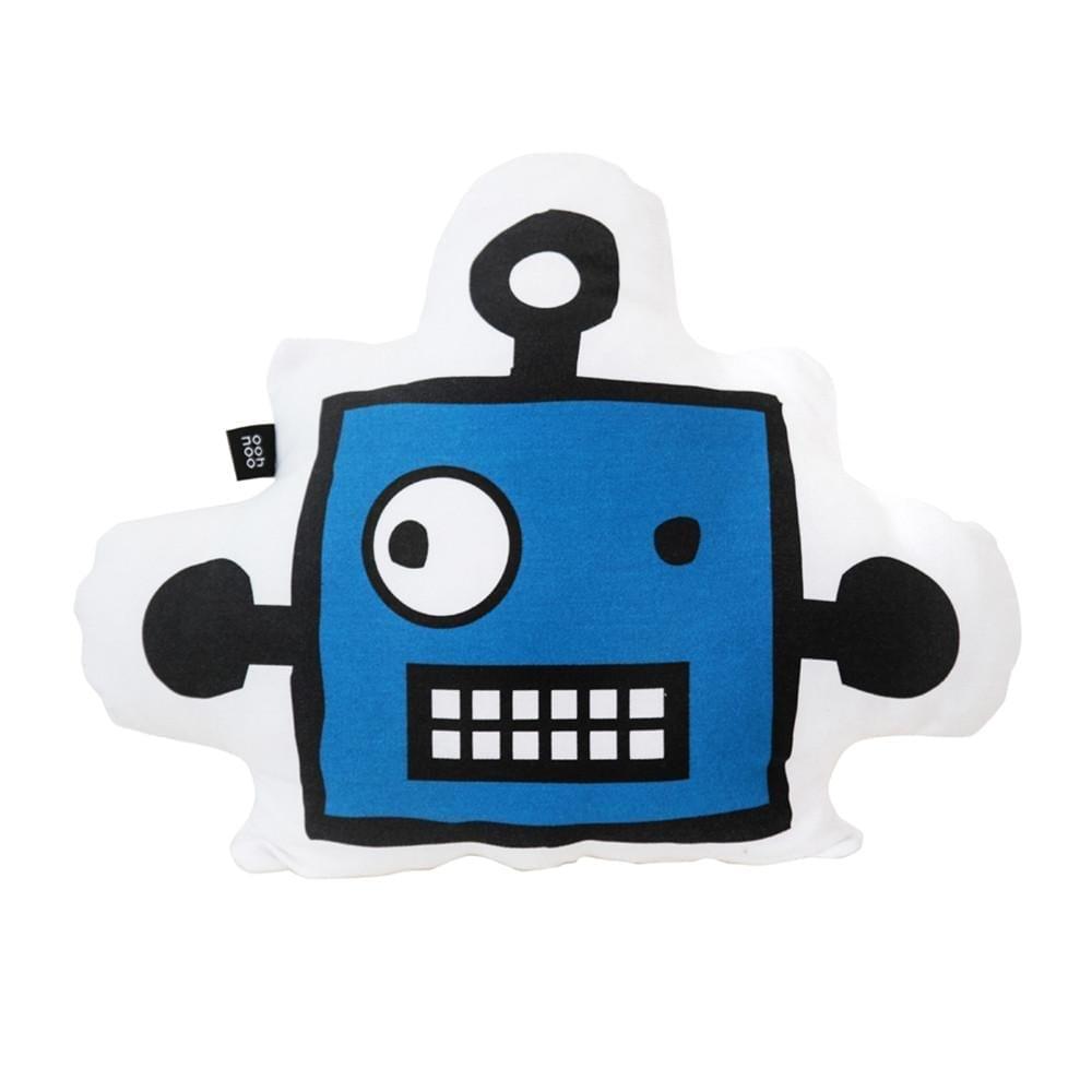 Ooh Noo – Robot Mask Cushion – Blue