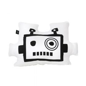 Kinderkussen – Robot Mask – White