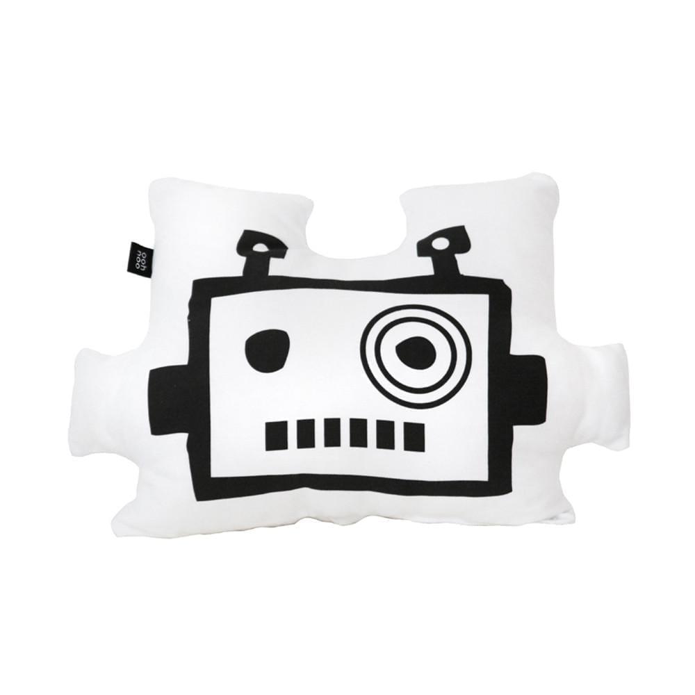 Kinderkussen – Robot Mask – White