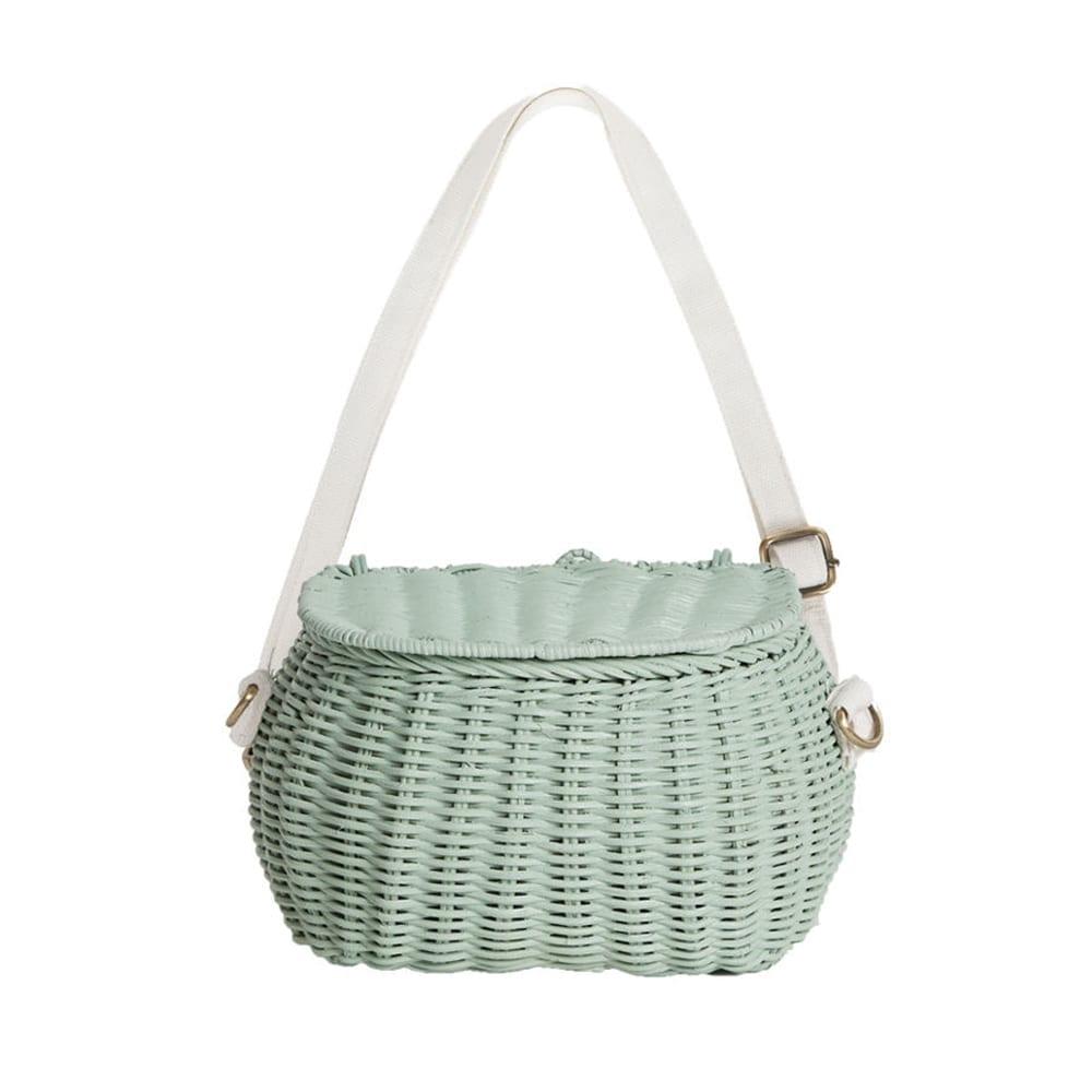 Mini Chari Basket Bag – Mint