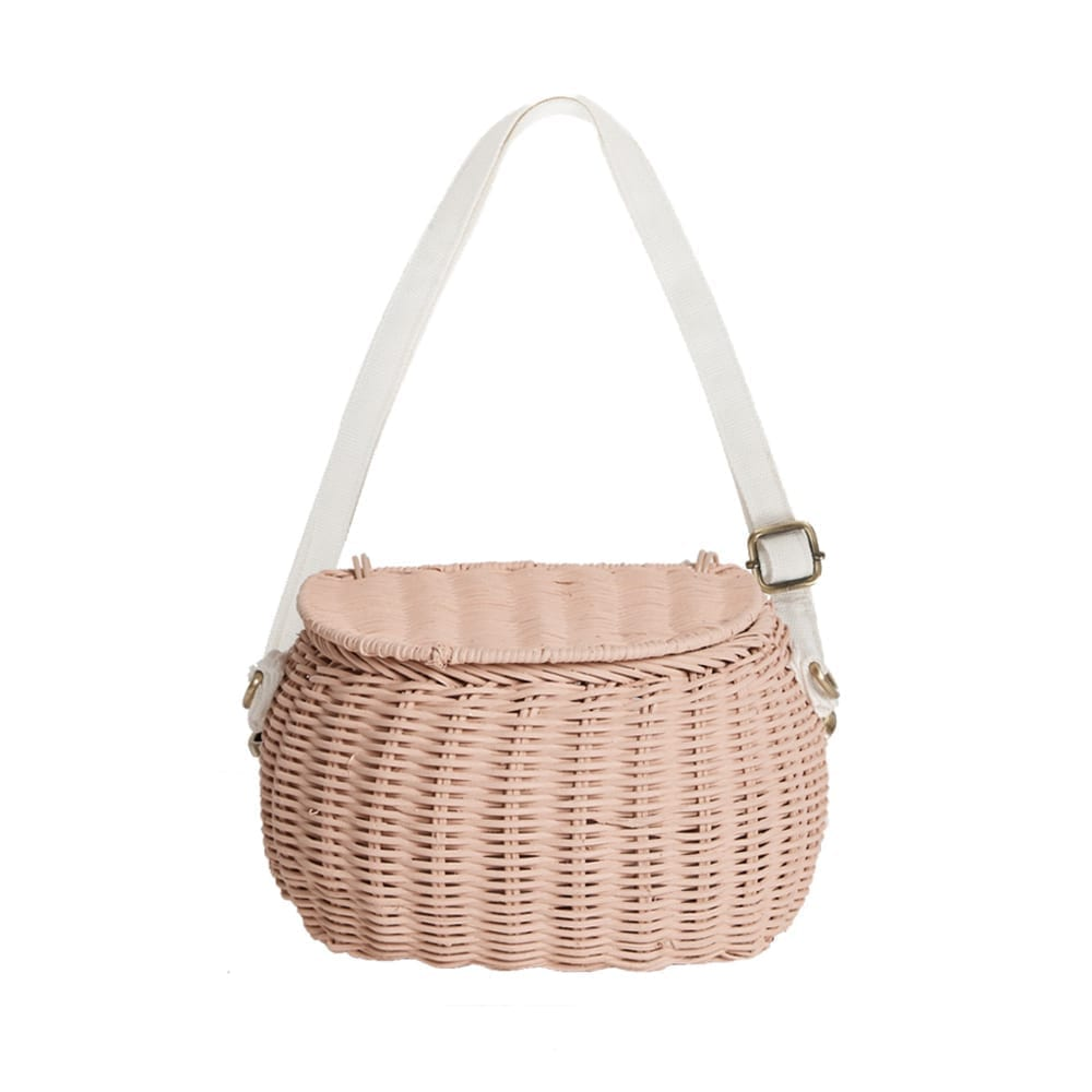 Olli Ella – Mini Chari Basket Bag – Rose
