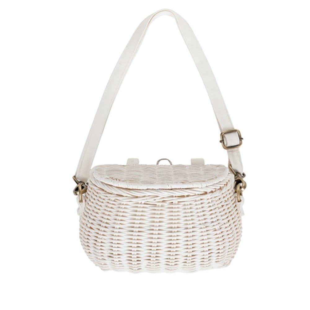 Mini Chari Basket Bag – White