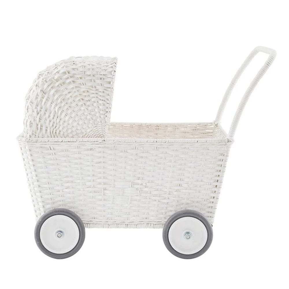 Olli Ella – Poppenwagen – Strolley – Wit