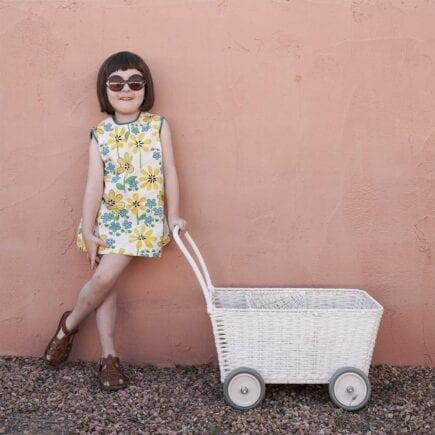 Olli Ella Puppenwagen Strolley Weiß