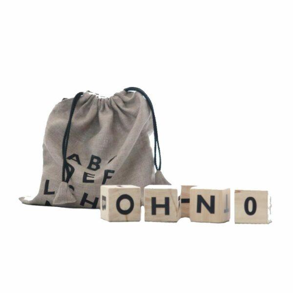 Ooh Noo - Alphabet Wooden Blocks - Black