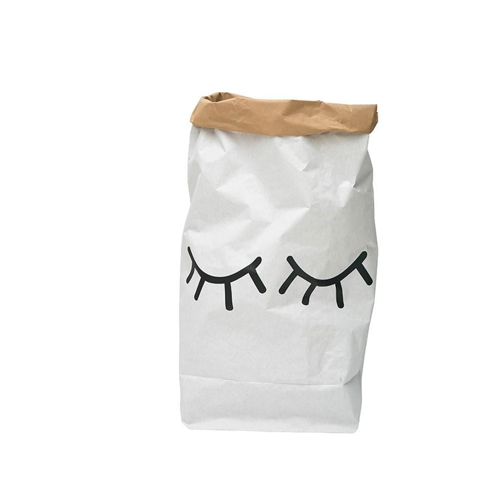 Toy Storage Bag – Paper – Closed Eyes