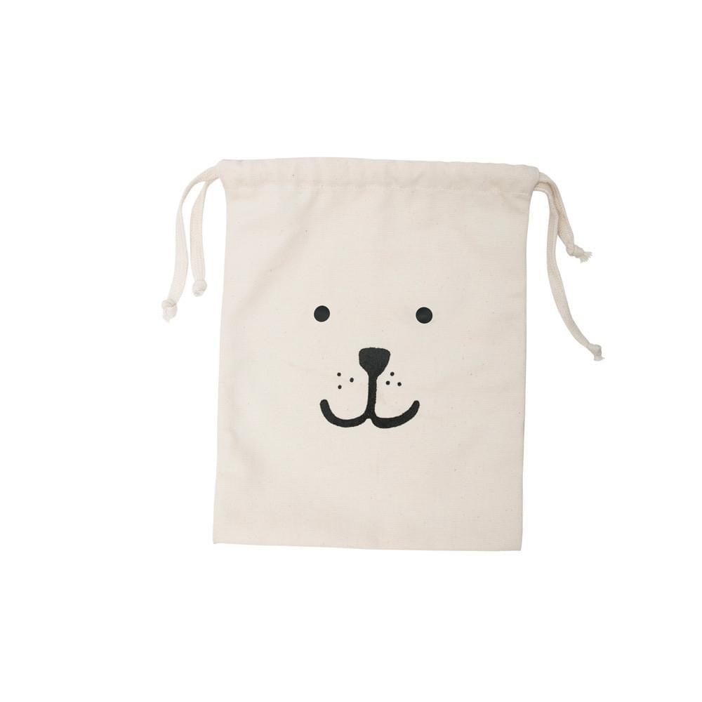 Tellkiddo – Toy Storage Bag – Cotton – Bear Face