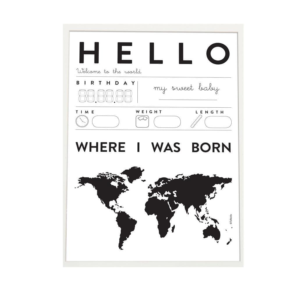 Tellkiddo – Poster Baby Hello, A3