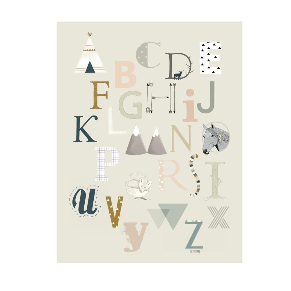 Minimel – ABC Poster – A4