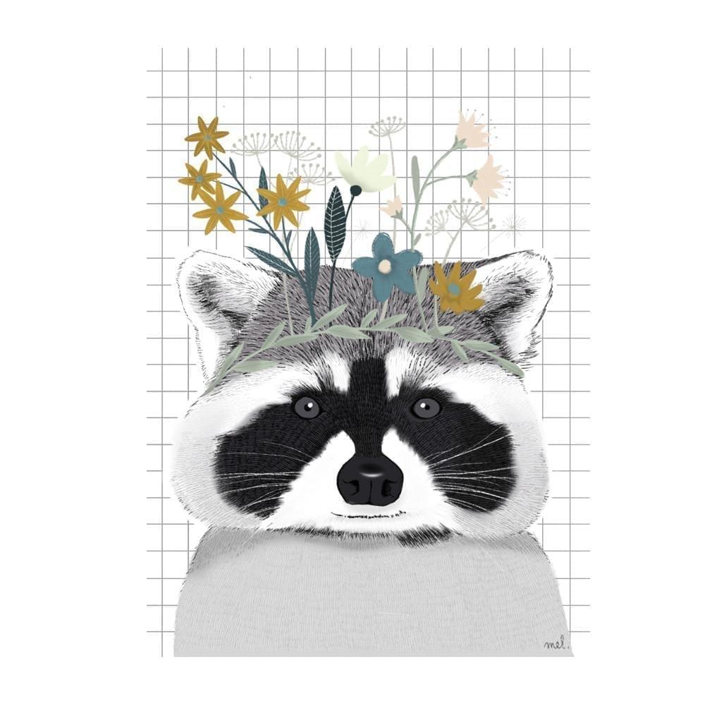 Minimel – Raccoon Poster – A4