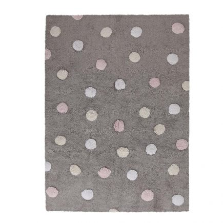 Lorena Canals - Wasbaar Vloerkleed - Polka Dots - Linen - 120 x 160 cm