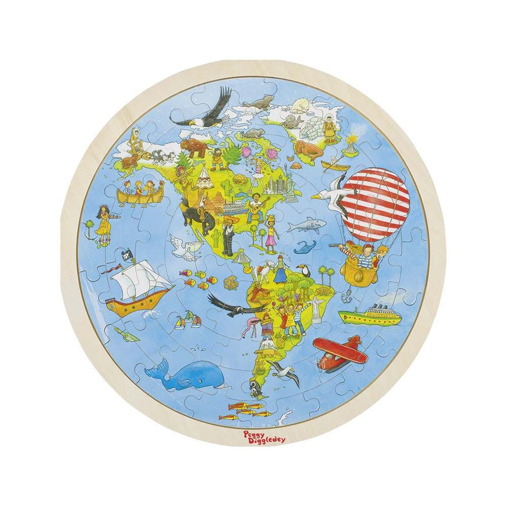 Goki – Puzzle – On World Tour, 2 Sides