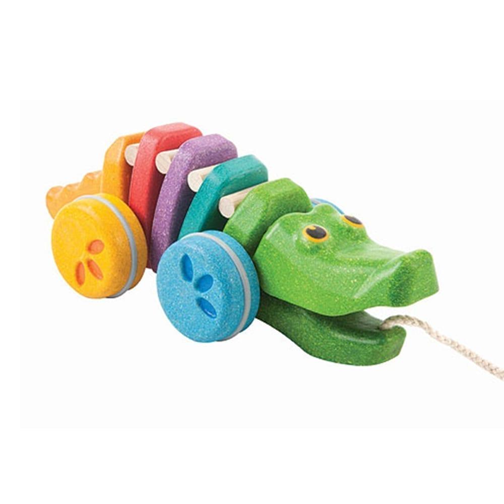 Plan Toys – Ziehtier Alligator Bunt
