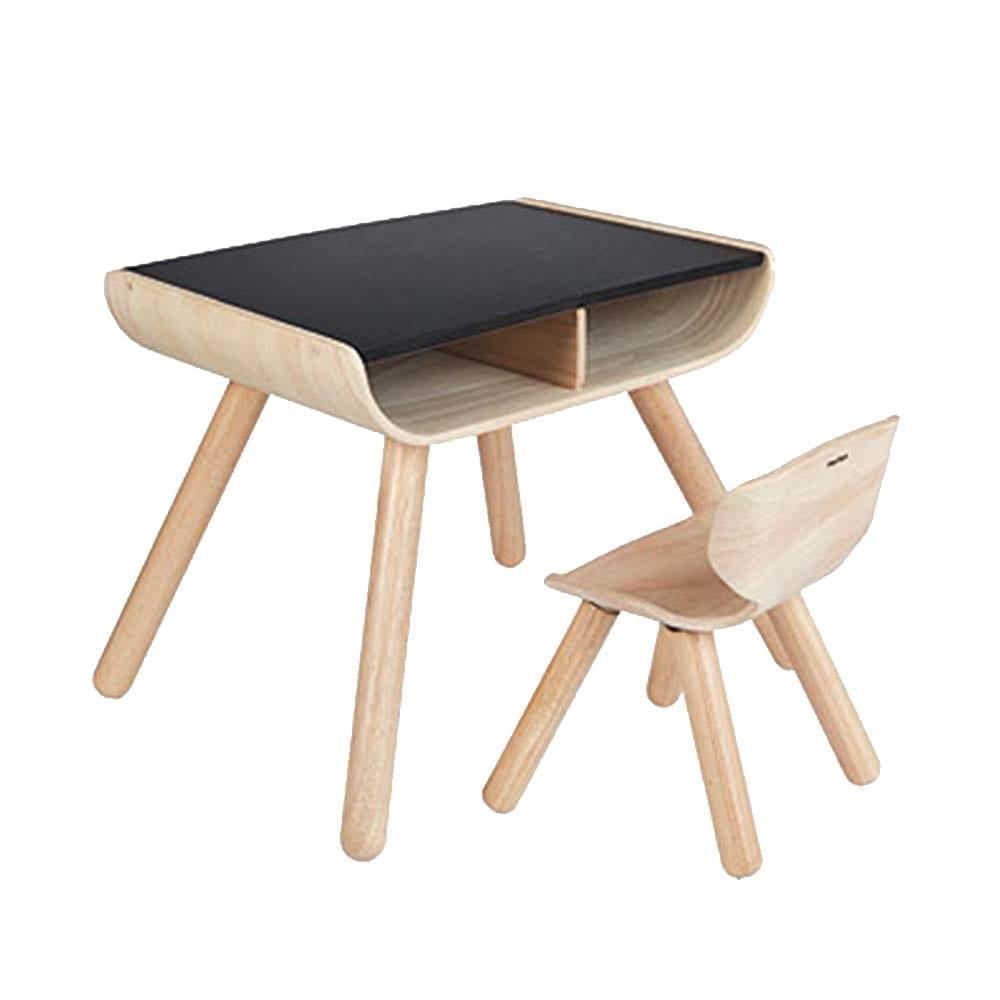 Kinderholztisch & Stuhl