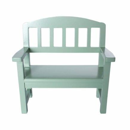 Maileg Wooden Bench, Green - 20 cm