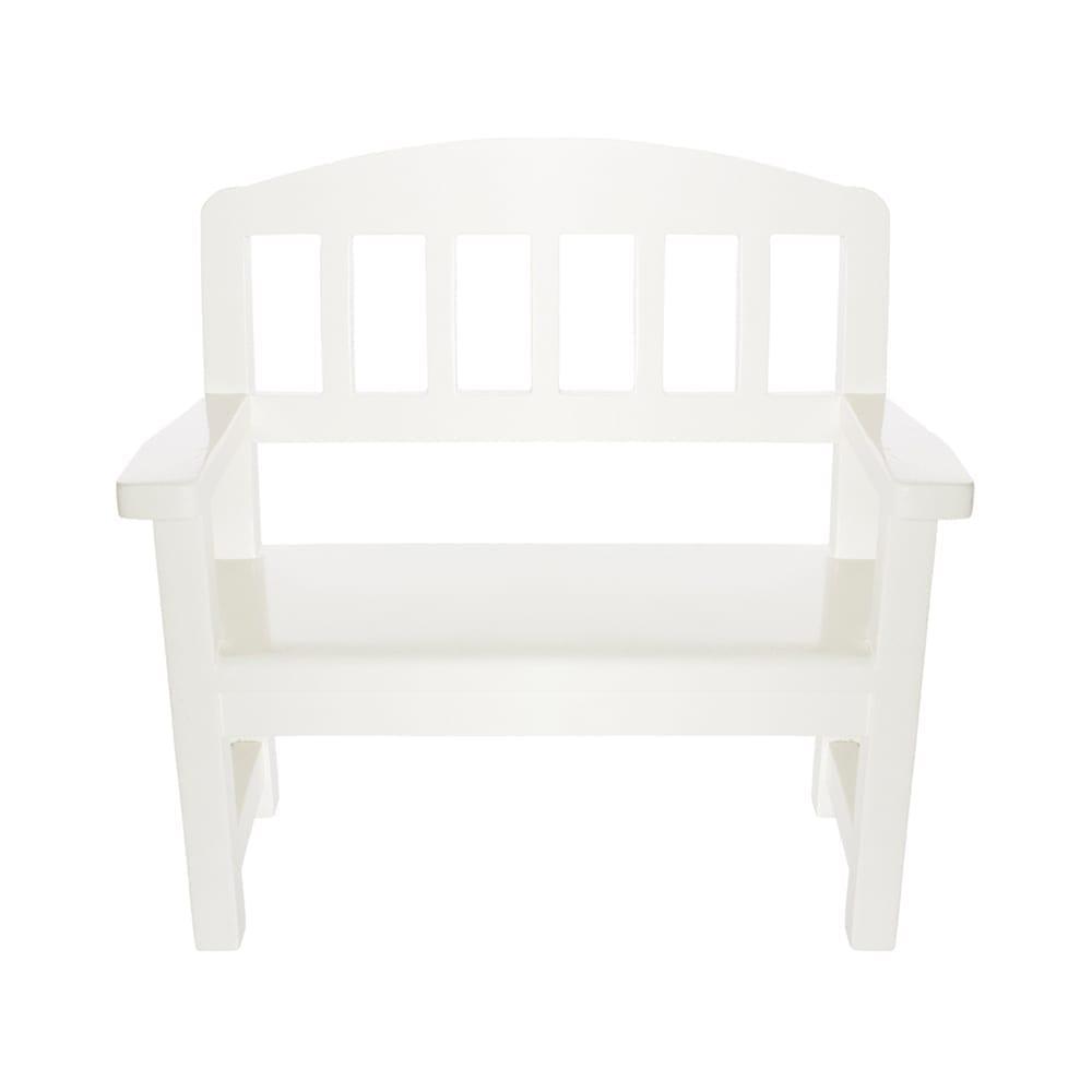 Maileg – Houten Bankje – White – 20 cm