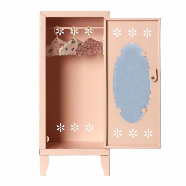 Maileg Locker with 3 Hangers - Powder - 36 cm