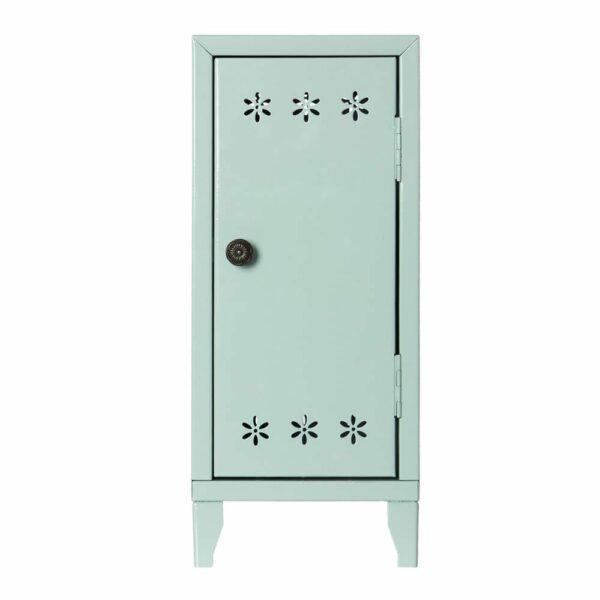 Maileg Locker with 3 Hangers - Green - 36 cm