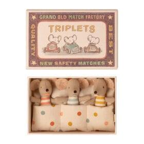 Maileg – Baby Triplets – Mice in Matchbox – 8 cm