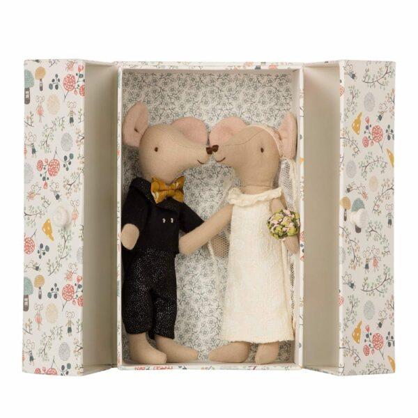 Maileg - Wedding Mice Couple in Box - 15 cm