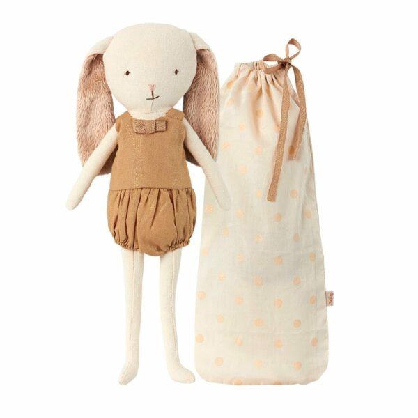 Bell Bunny in Bag - Gold - 24 cm