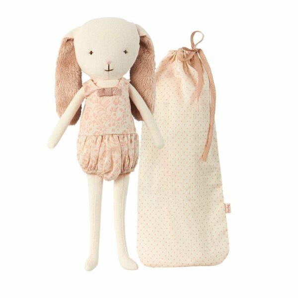 Bell Bunny in Bag - Rose - 24 cm