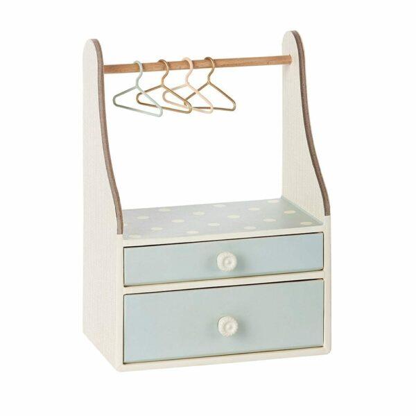 Maileg Wardrobe Dresser, Mint - 19 cm