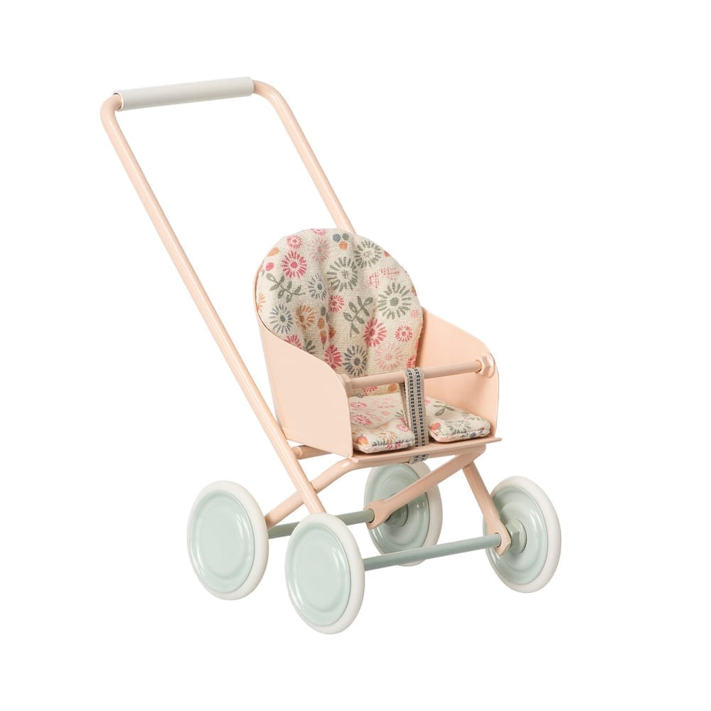 Maileg – Micro Stroller, Powder – 14 cm