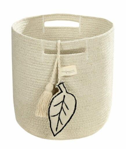 Lorena Canals - Washable Basket - Leaf - Natural