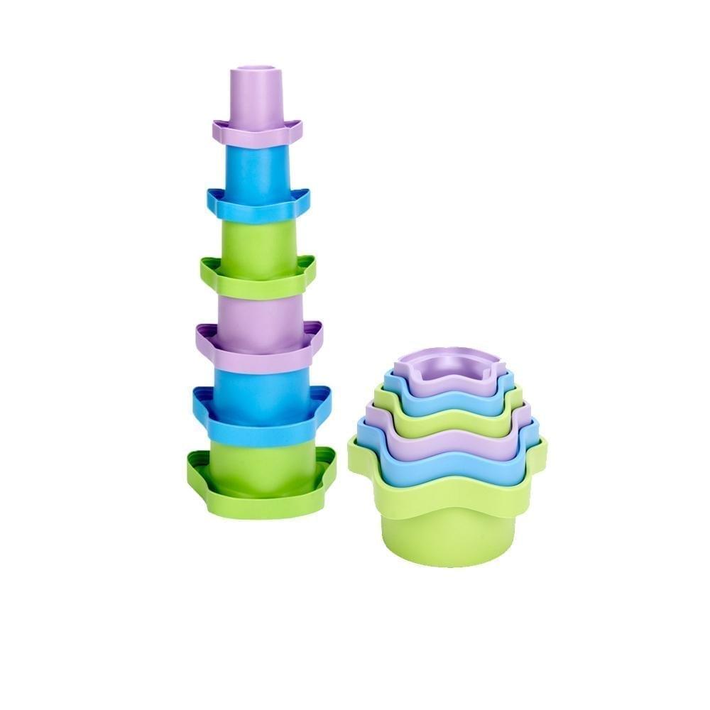 Green Toys – Robuste Stapelförmchen 6 tlg.