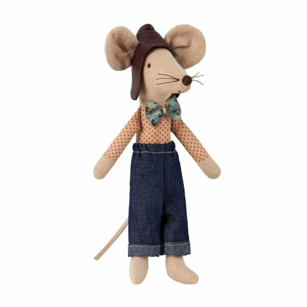 Maileg Mouse Racer - Dad - 13 cm