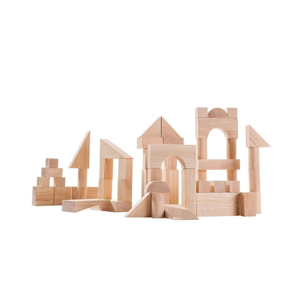 Plan Toys – 50 Unit Wooden Blocks
