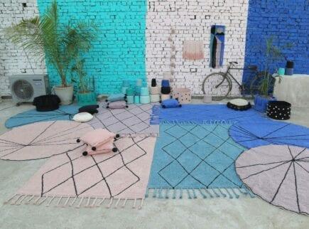 Lorena Canals - Waschbarer Teppich - Bereber Blue - 140 x 200 cm