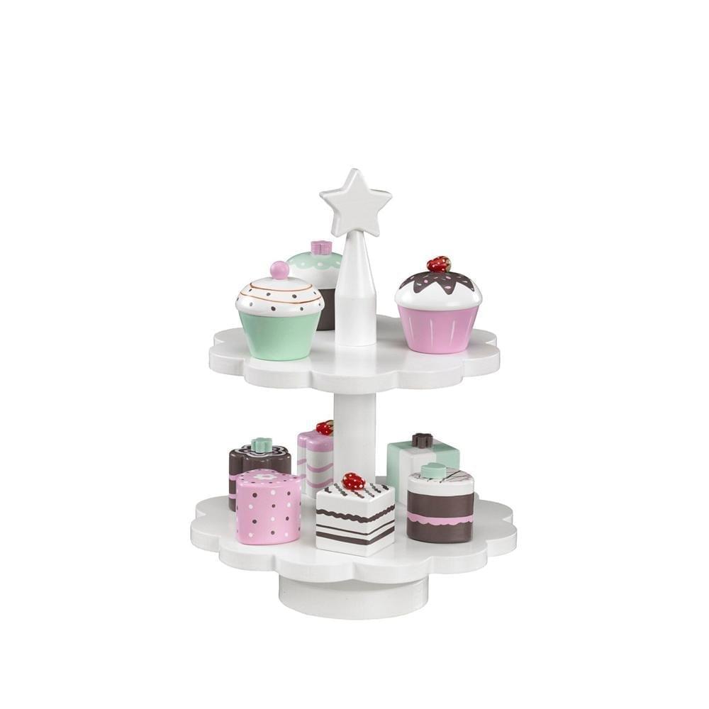 Kids Concept – Speelgoed Cupcake Standaard – incl. 9 Gebakjes