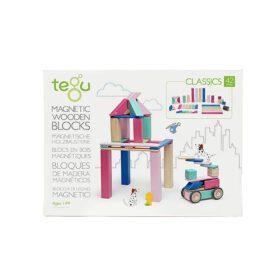 Tegu – Magnetic Wooden Blocks – Blossom – 42-piece set