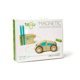 Tegu – Magnetic Wooden Blocks – Circuit Racer – 12-piece set