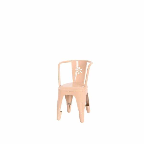 Maileg Metall Stuhl – Puder Rosa – 16 cm