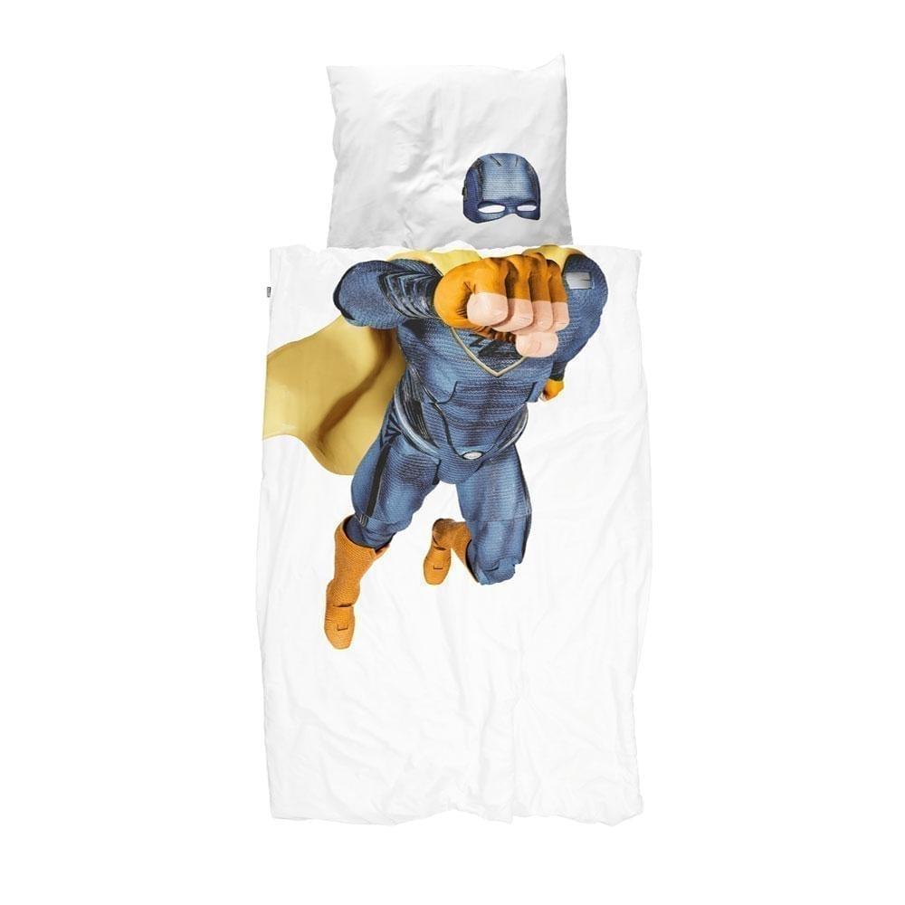 Snurk – Duvet Cover Set – Superhero Blue