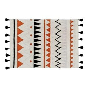 Lorena Canals – Retro Rug – Azteca Natural Terracota – 120 x 160 cm