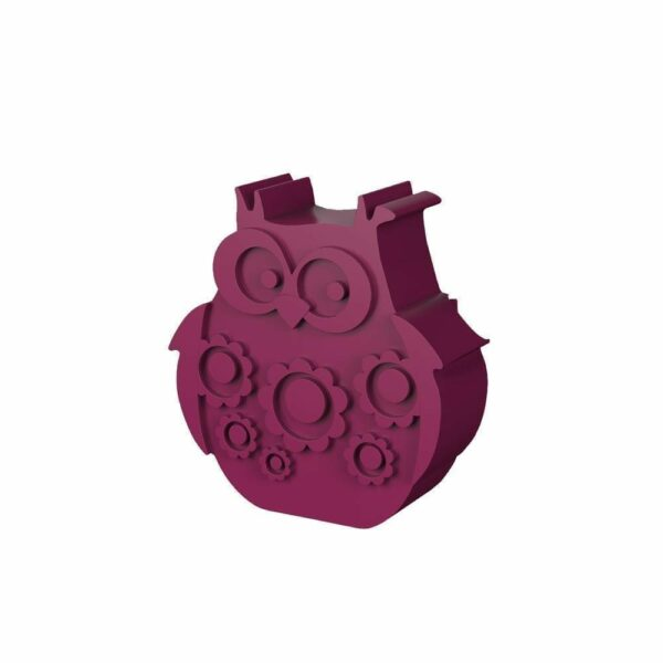 Lunchbox - Owl - Plum Red